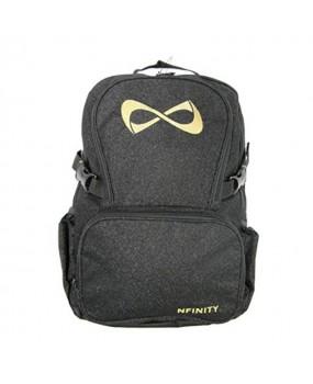 Sac NFINITY Black Sparkle Noir Pailleté Logo Gold -