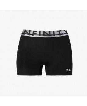 Short Noir Nfinity Flex ceinture Argent et Noire