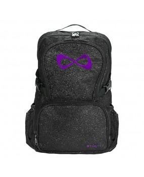 Sac NFINITY Black Sparkle Noir pailleté logo violet