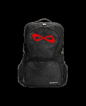 Sac NFINITY Black Sparkle Noir pailleté logo Rouge