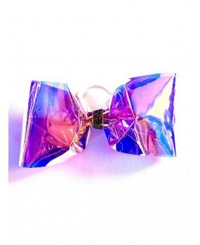"""Noeud cheerleading No tail transparent multicouleurs """"CLEAR VINYLE"""" - Nouveau Design"""