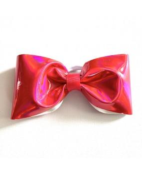 "Noeud cheerleading No tail Rose vif ""PINK VINYLE"" - Nouveau Design"