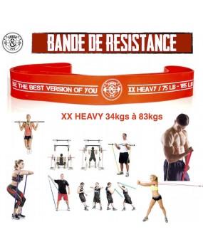 Bande élastique Orange de résistance XX HEAVY 34 - 83 Kgs