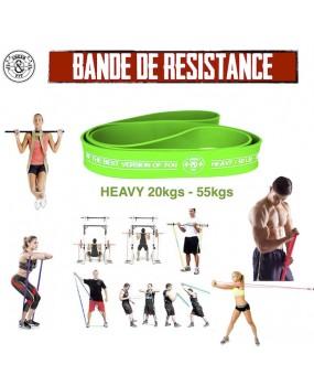Bande élastique verte résistance HEAVY 20 - 55 kgs